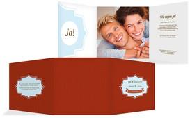 Einladungskarte Harmonie - Rot (K23)