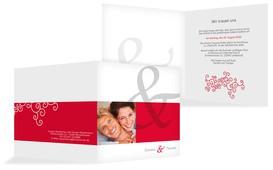 Einladungskarte Band der Liebe - Rot (K24)