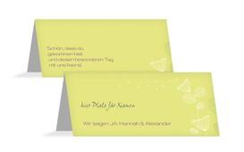 Tischkarte Pusteblume - Gelb (K32)