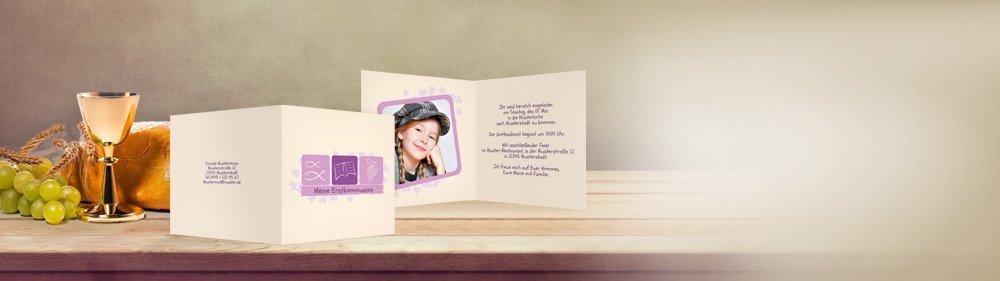 Einladungskarten Selbst Gestalten So Einfach Geht S: Einladungskarten Zur Kommunion Selbst Erstellen & Drucken